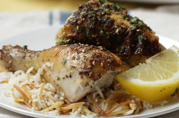 Za'atar Hünchen- und Reispilaf