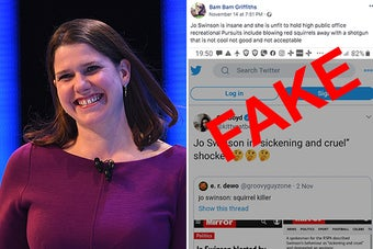 Jo Swinson's Been Forced To Deny She Kills Squirrels Thanks To A Twitter User Churning Out Viral Fake Election Stories