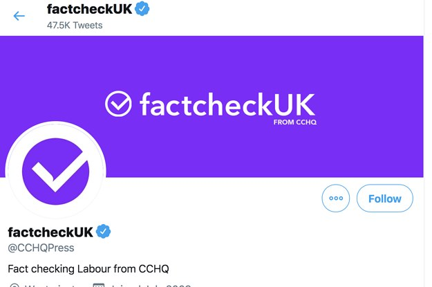 The Tory Press Twitter Account Rebranded As FactcheckUK And It Was Highly Problematic
