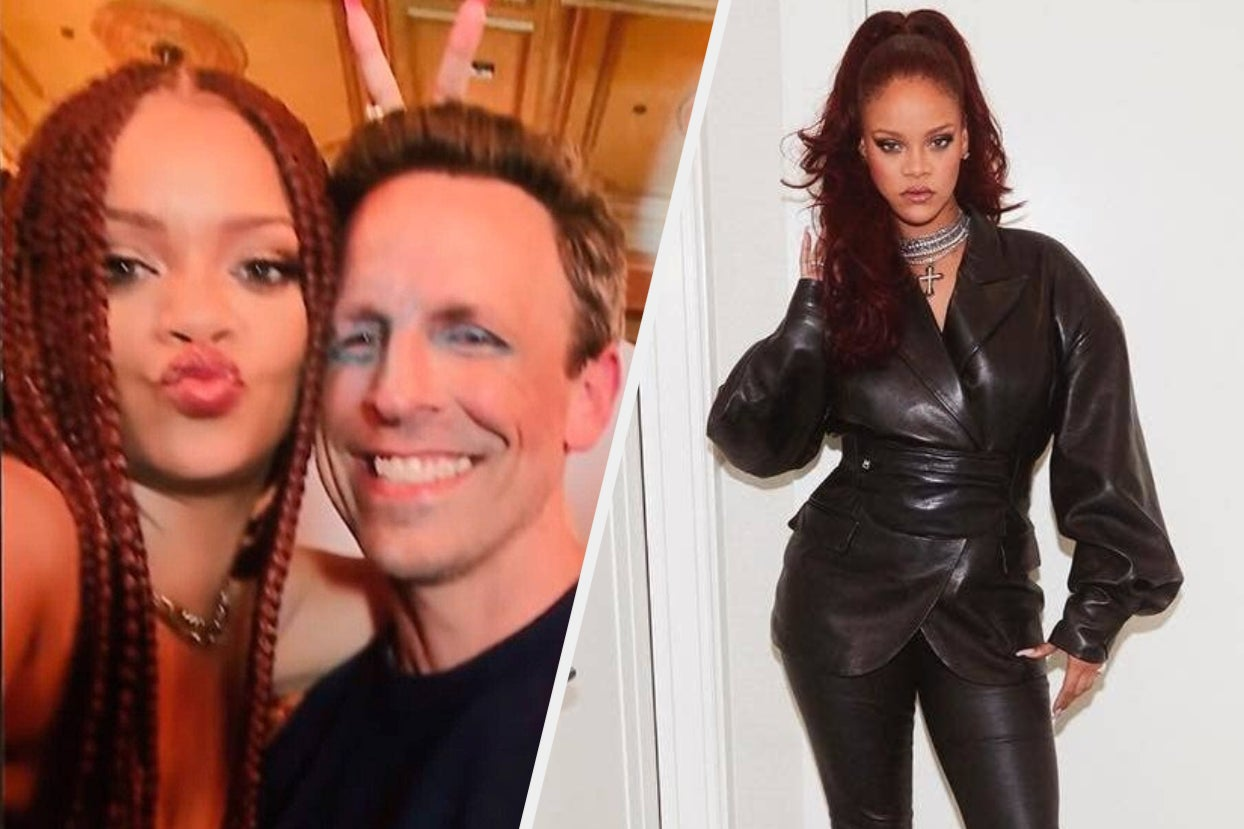 """13 Rihanna Photos That Prove Seth Meyers Must've Been High As Hell When He Said She Was """"Bad At Taking..."""