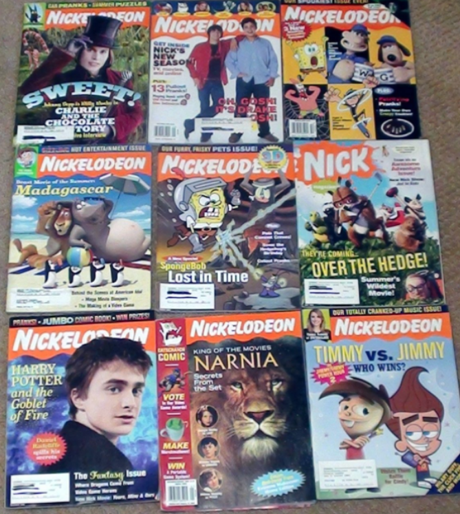 A collection Nick magazines