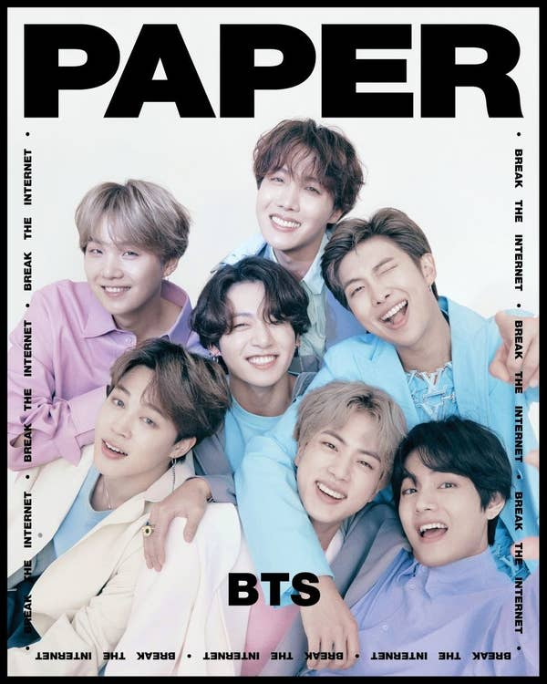 Global K Pop Superstars Bts Are On The Cover Of Paper S Break