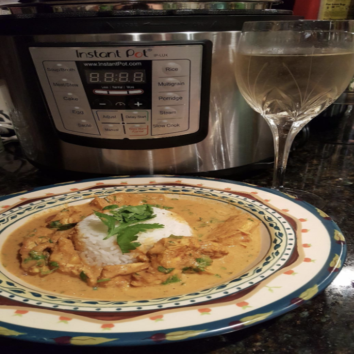 a reviewer's meal made in the instant pot