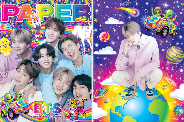 "BTS Is On The Cover Of PAPER's ""Break The Internet"" Issue, And I Just Bought Out Lisa Frank's Inventory"