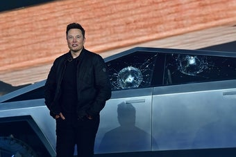 Help, I Can't Stop Watching This Video Of Elon Musk Breaking His Cybertruck Windows