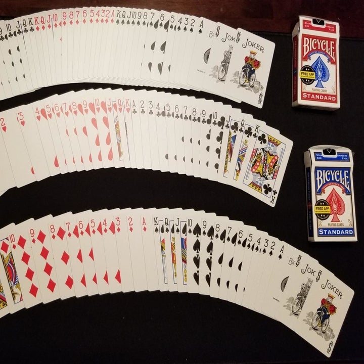 the card spread from two boxes
