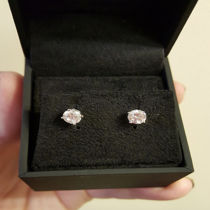 reviewer photo of earrings