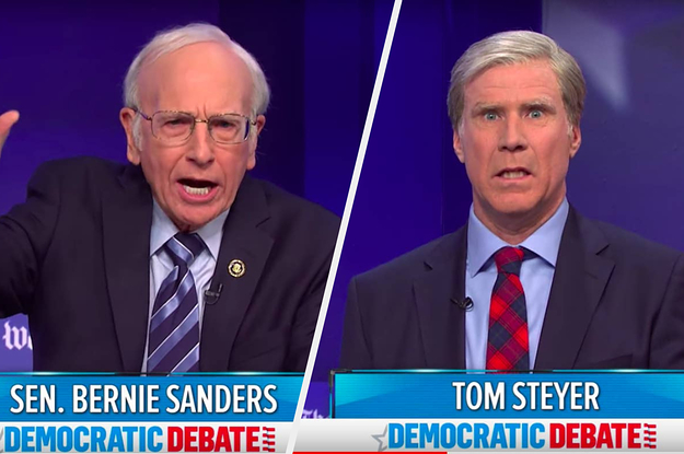 "I'm Crying Laughing At ""Saturday Night Live""'s Spoof Of MSNBC's Democratic Debate"