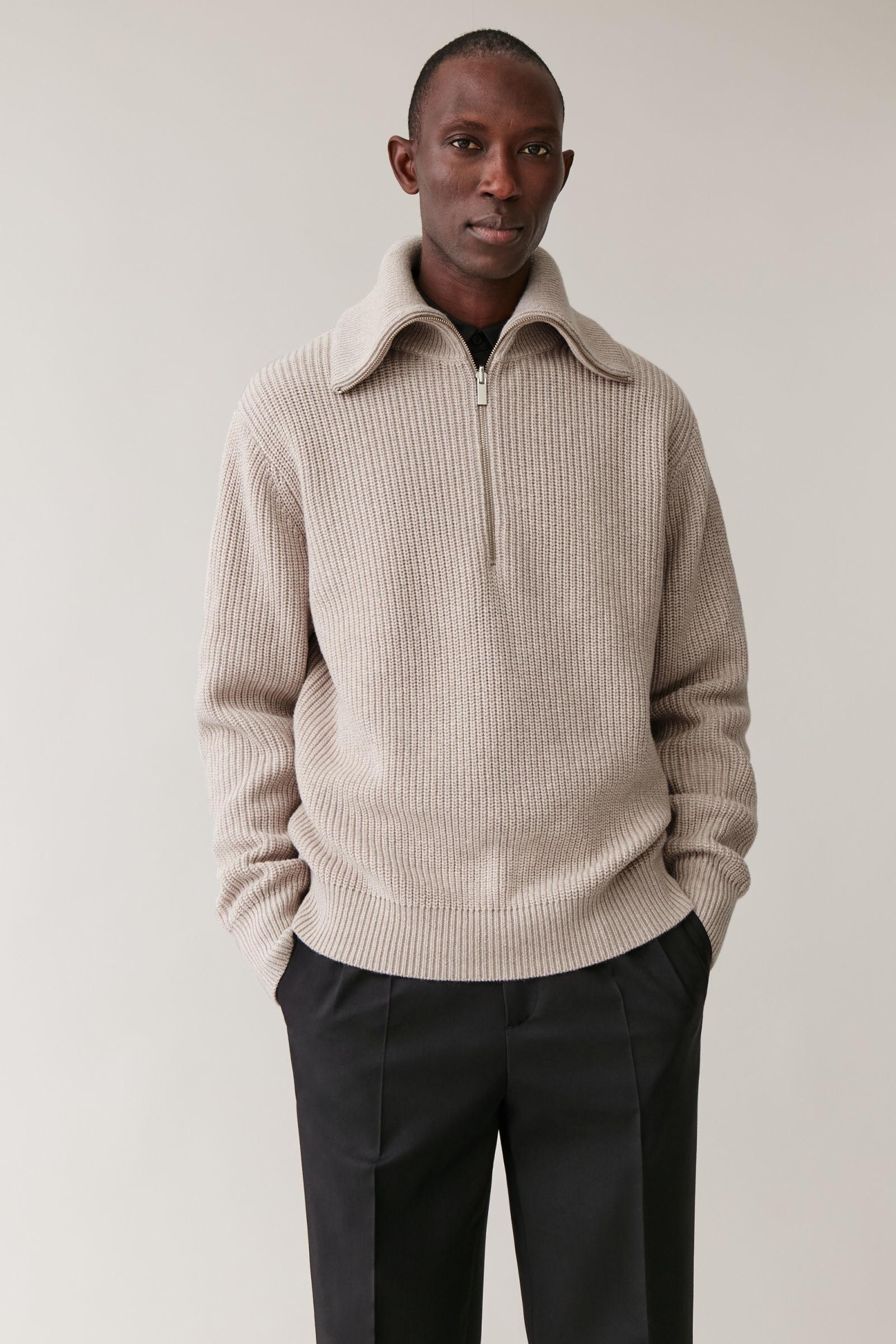 YUNY Men Textured Baggy Style Autumn Winter Long Sleeve Knitwear 2 L