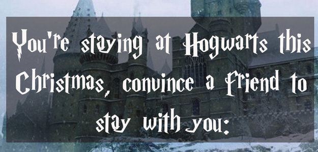 Have Christmas At Hogwarts And We'll Sort You Into A House