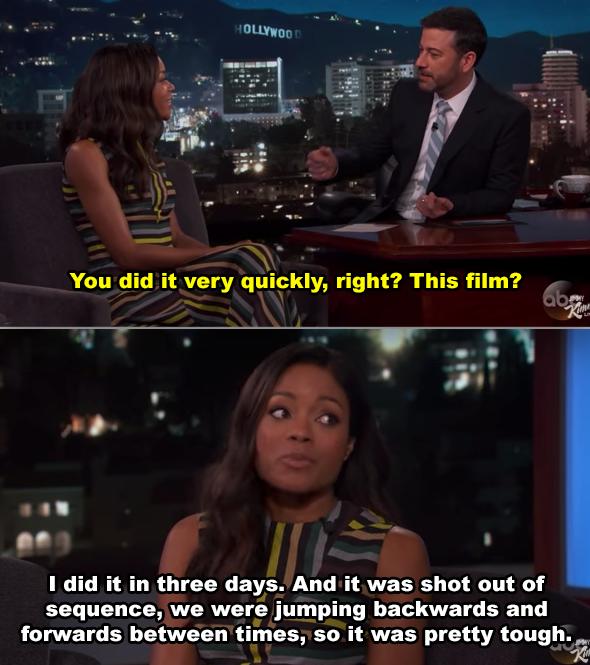 Naomie Harris on Jimmy Kimmel's talk show