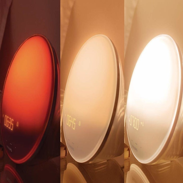 The color variations of the Philips SmartSleep Wake-up alarm clock
