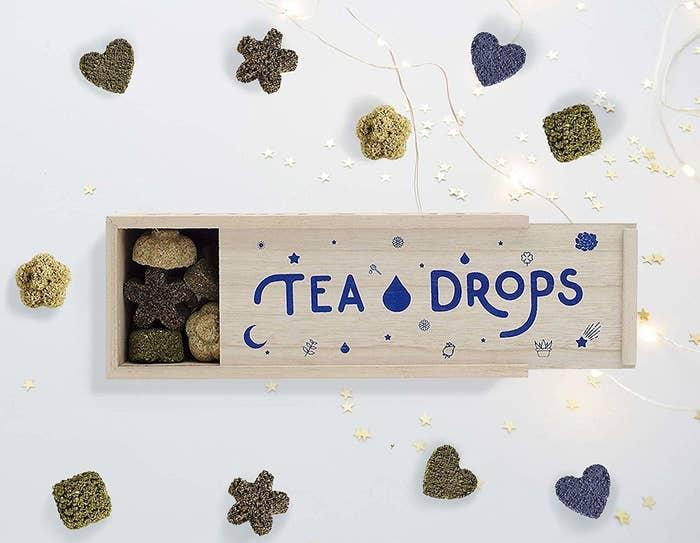 an open box of Tea Drops