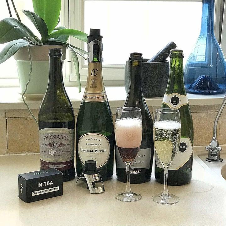 The bottle sealer.
