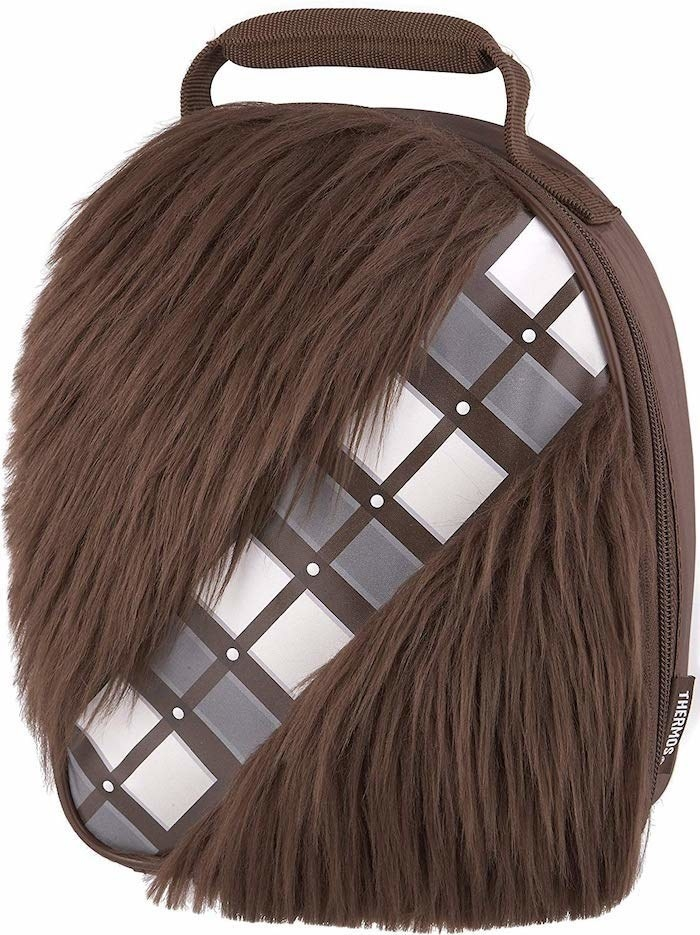 backpack with actual hair on it that looks like the Wookie