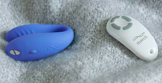 The curved U-shaped vibrator with its remote