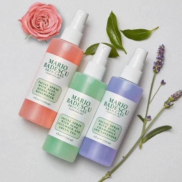 the three face spray bottles