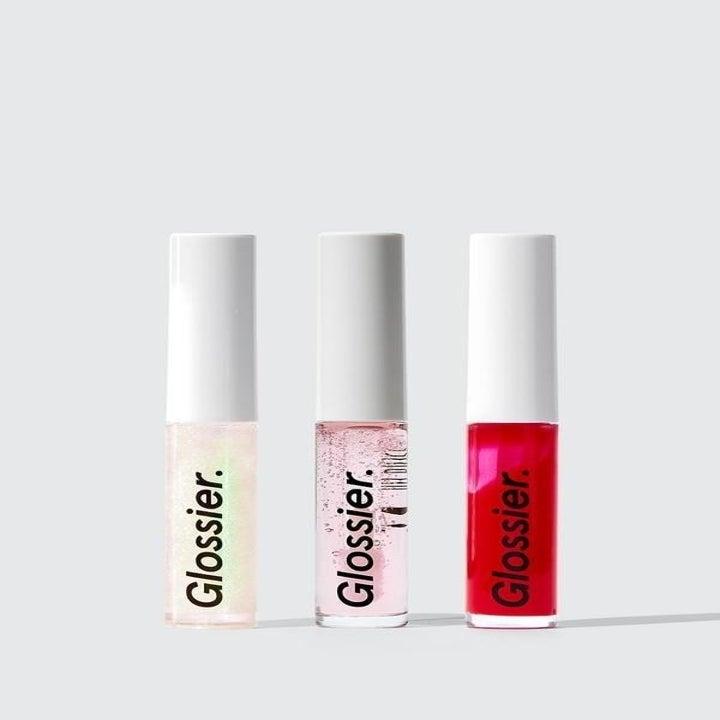 the three lipglosses