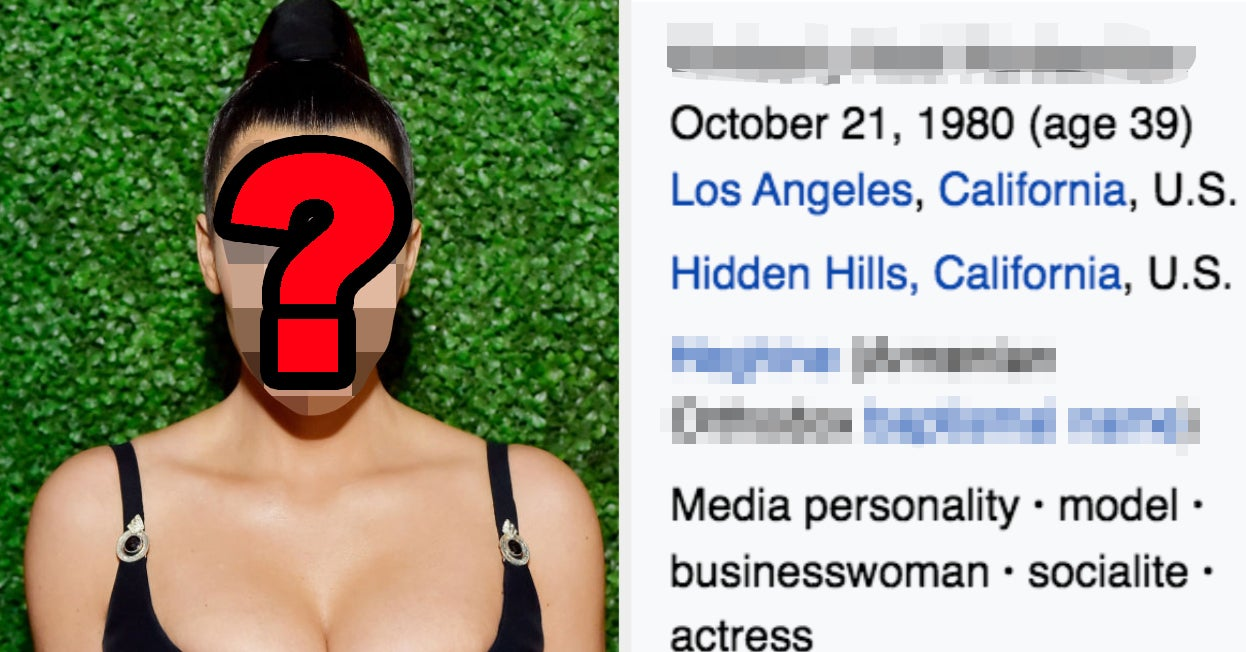 Can You Guess The Celebrity Based Solely On Their Wikipedia Page?