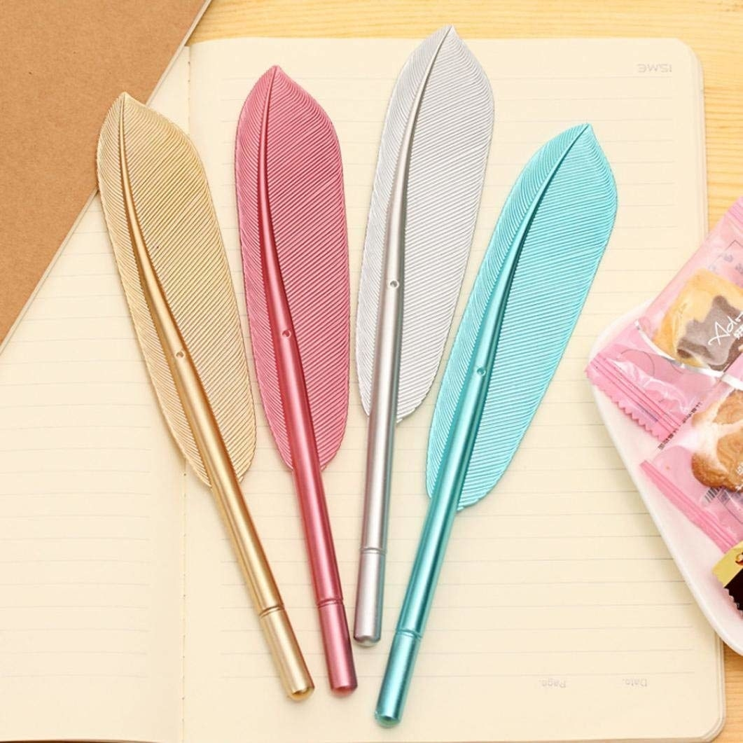 The feather ballpint pens.
