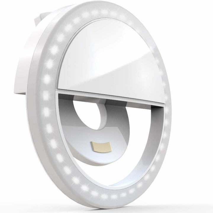 the round clip-on light