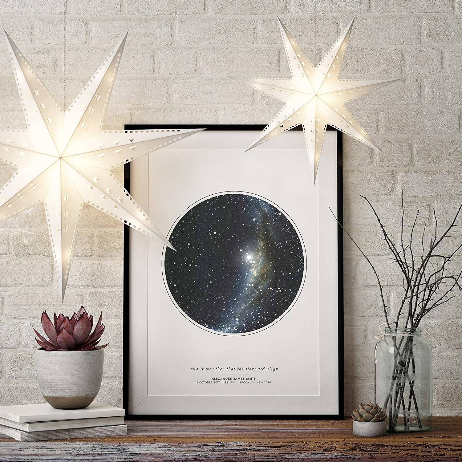 The customized star map.