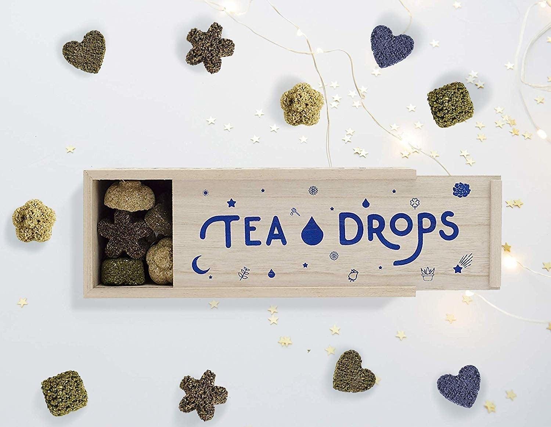An open box of Tea Drops.