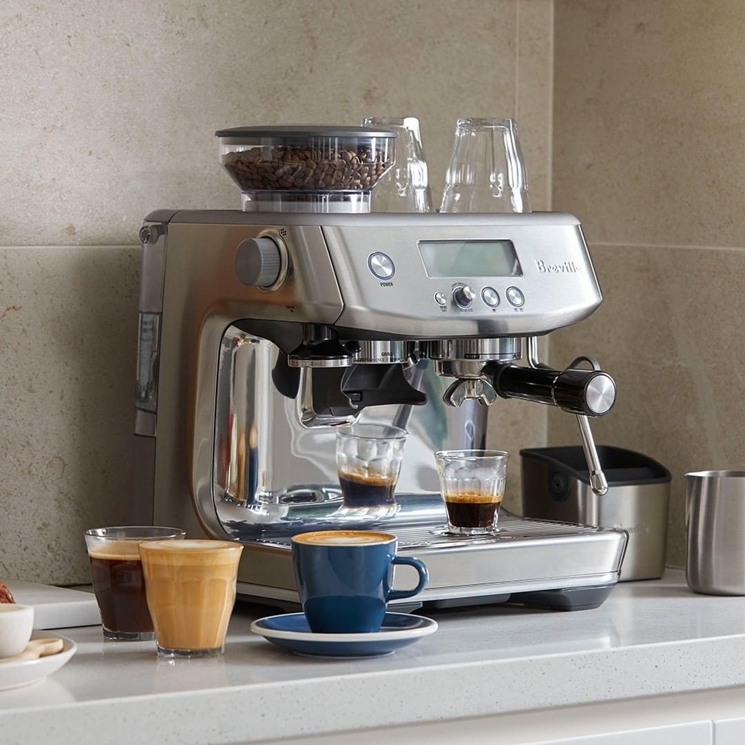 The espresso machine on a countertop