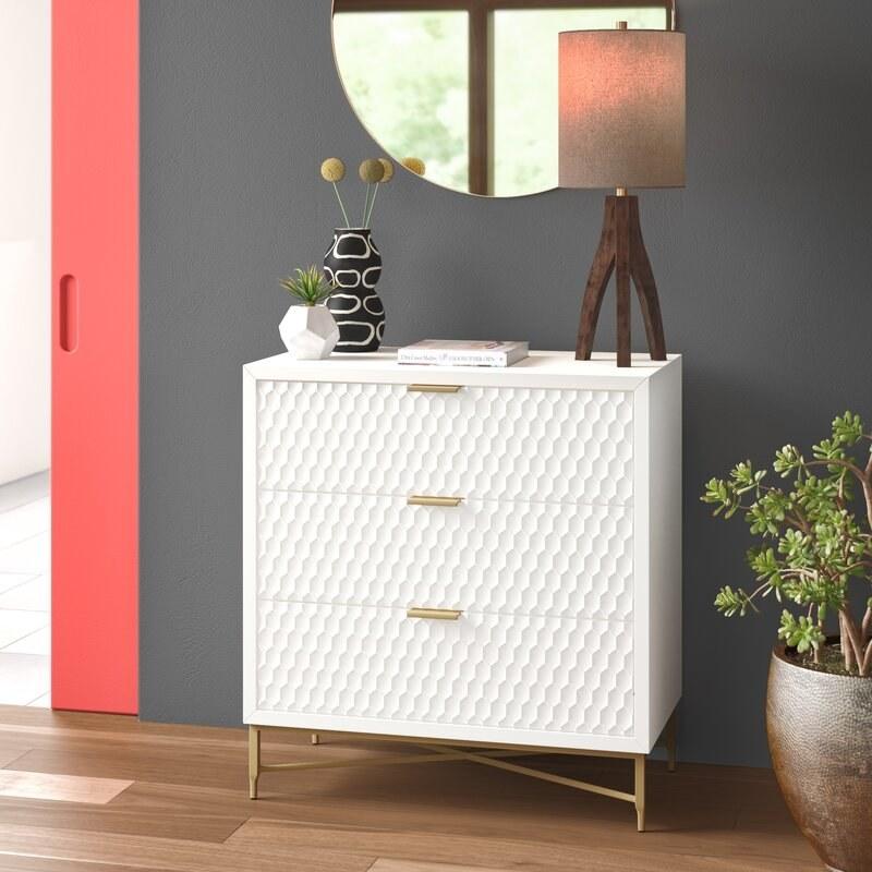 The white dresser