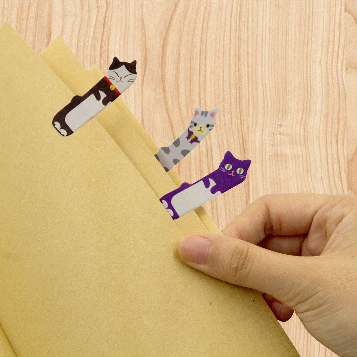 tab-shape cat stickers