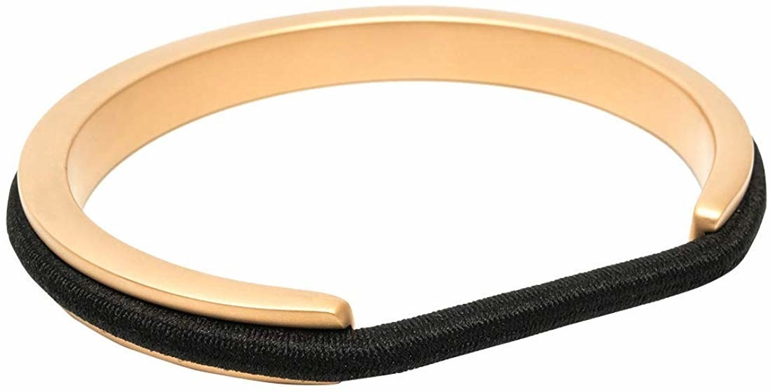 open bangle with ridge to fit elastic hair band