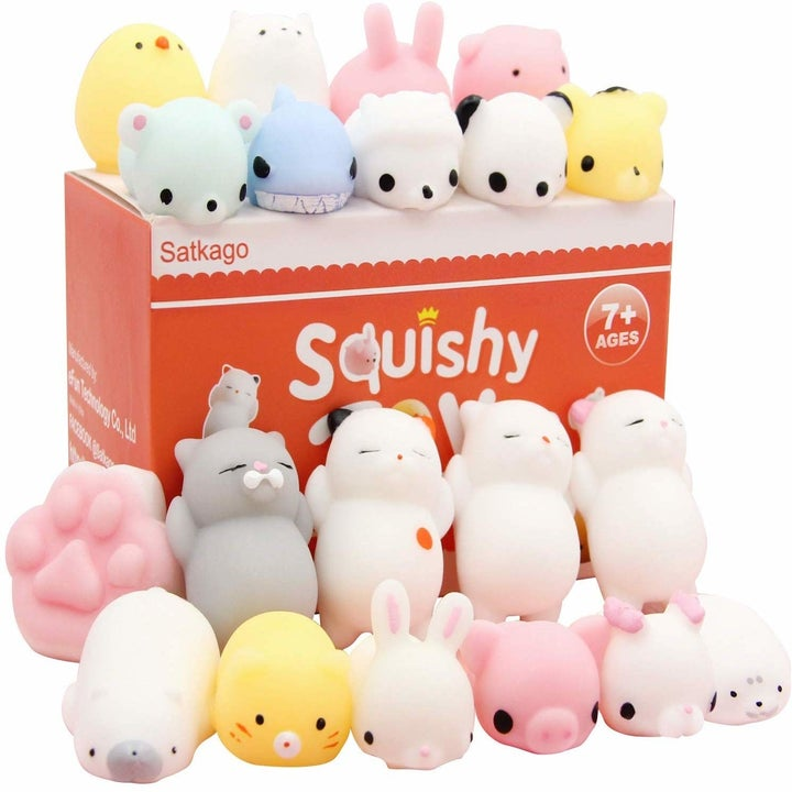 an array of cute squishy toys