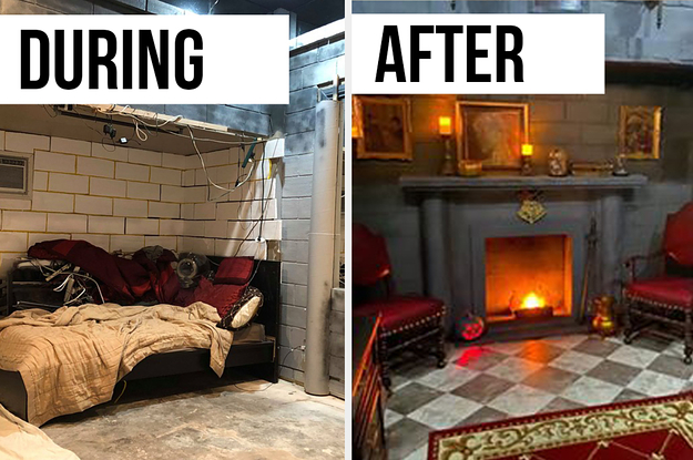 This Harry Potter Fan Diy D His Bedroom Like Hogwarts And The