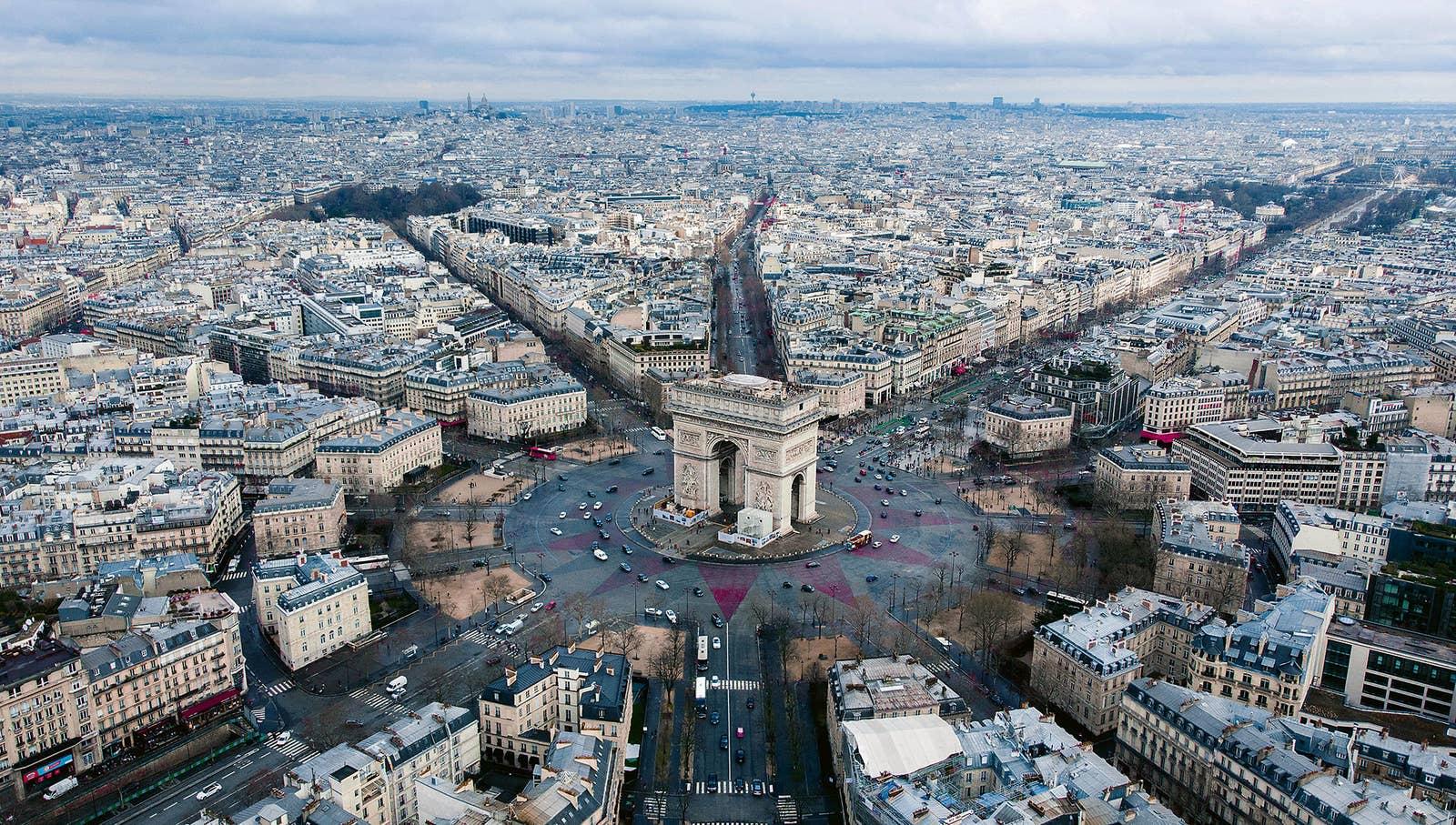 aerial photography Paris