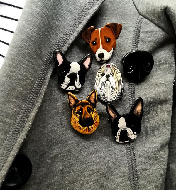 an array of different dog pins