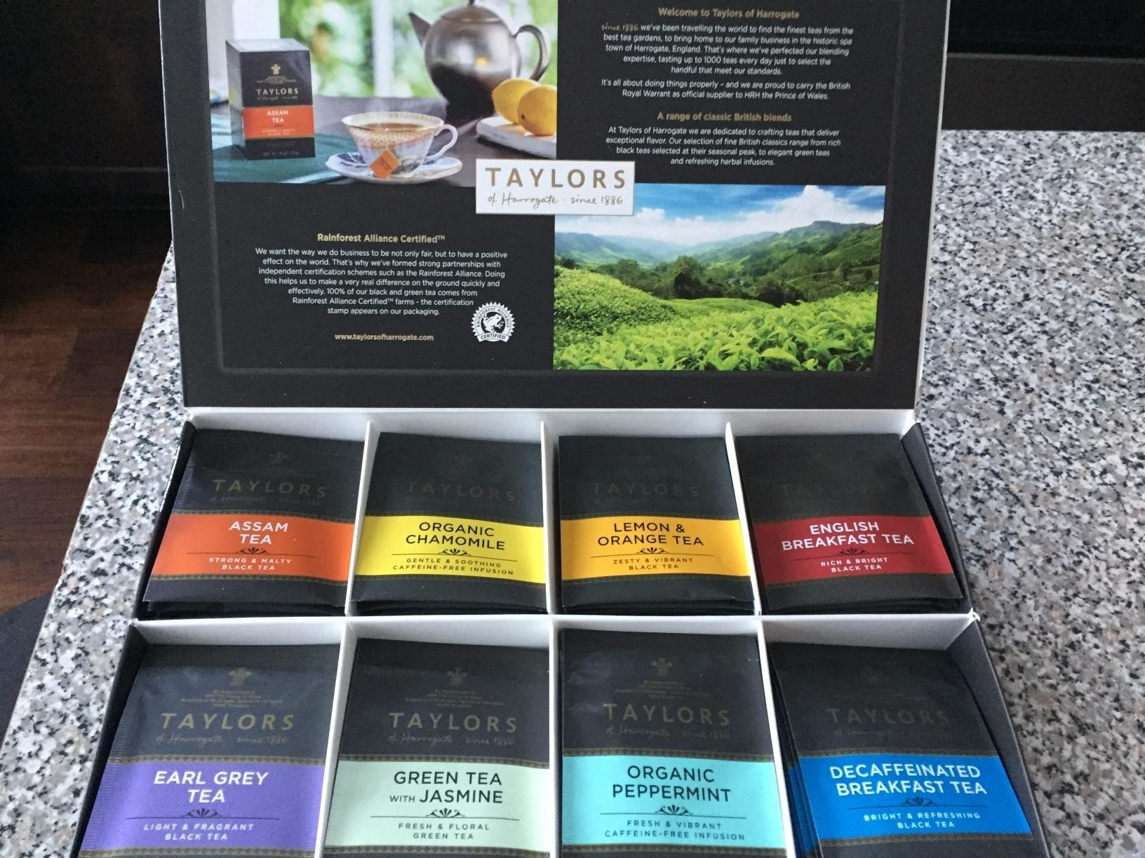 reviewer's box of tea