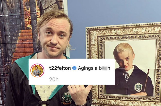 Tom Felton Posted A Photo In Draco Malfoy Robes And Matthew Lewis's Response Is So Good