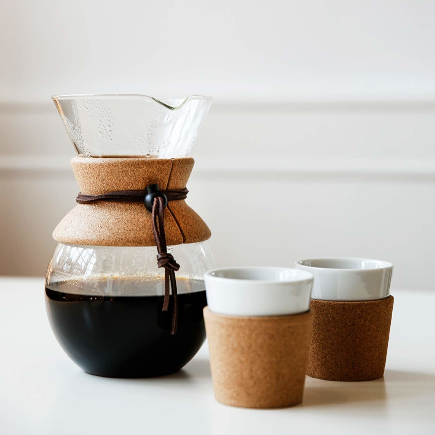 the clear coffee maker