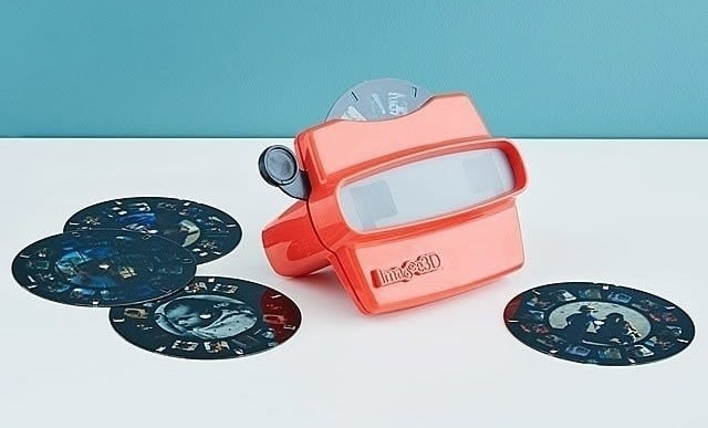 the reel viewer with the reel of customized photos laid out next to it
