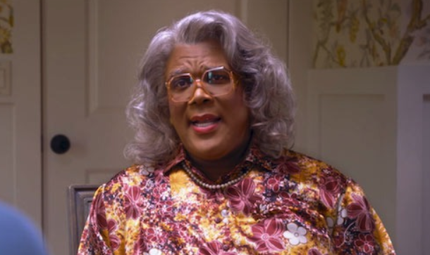 Tyler Perry dressed as Madea