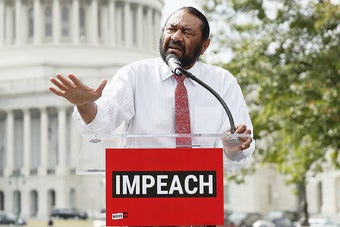 The First Democrat To Call For Impeachment Vows To Keep Trying Until Trump Is Removed From Office