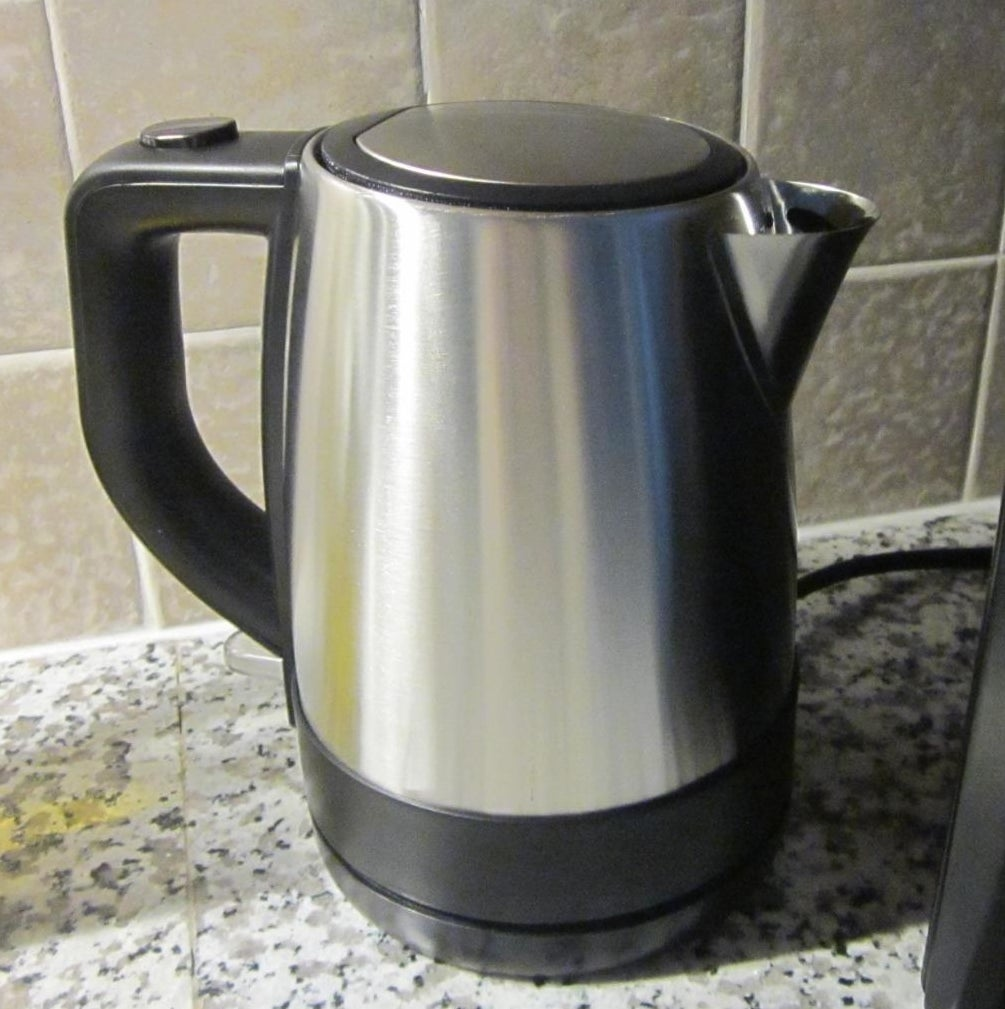 reviewer's stainless steel electric kettle