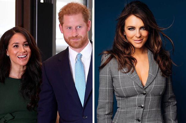 """""""The Royals"""" Star Elizabeth Hurley Says Harry And Meghan Have More Privacy Than People In Showbiz"""