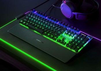 the glowing keyboard