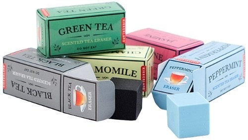 rectangle shape boxes of different scented erasers