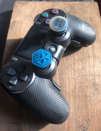 the grip on a game controller