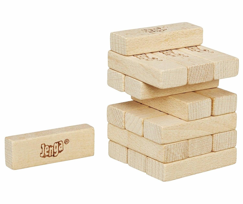 small wooden jenga game