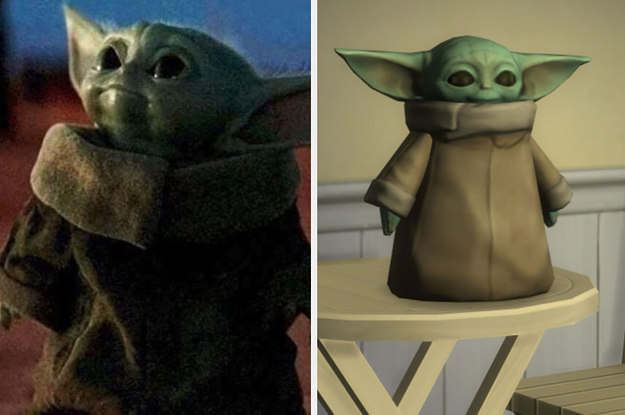 """The Sims 4"" Now Has Baby Yoda In It And I Am Crying Tears Of Joy"