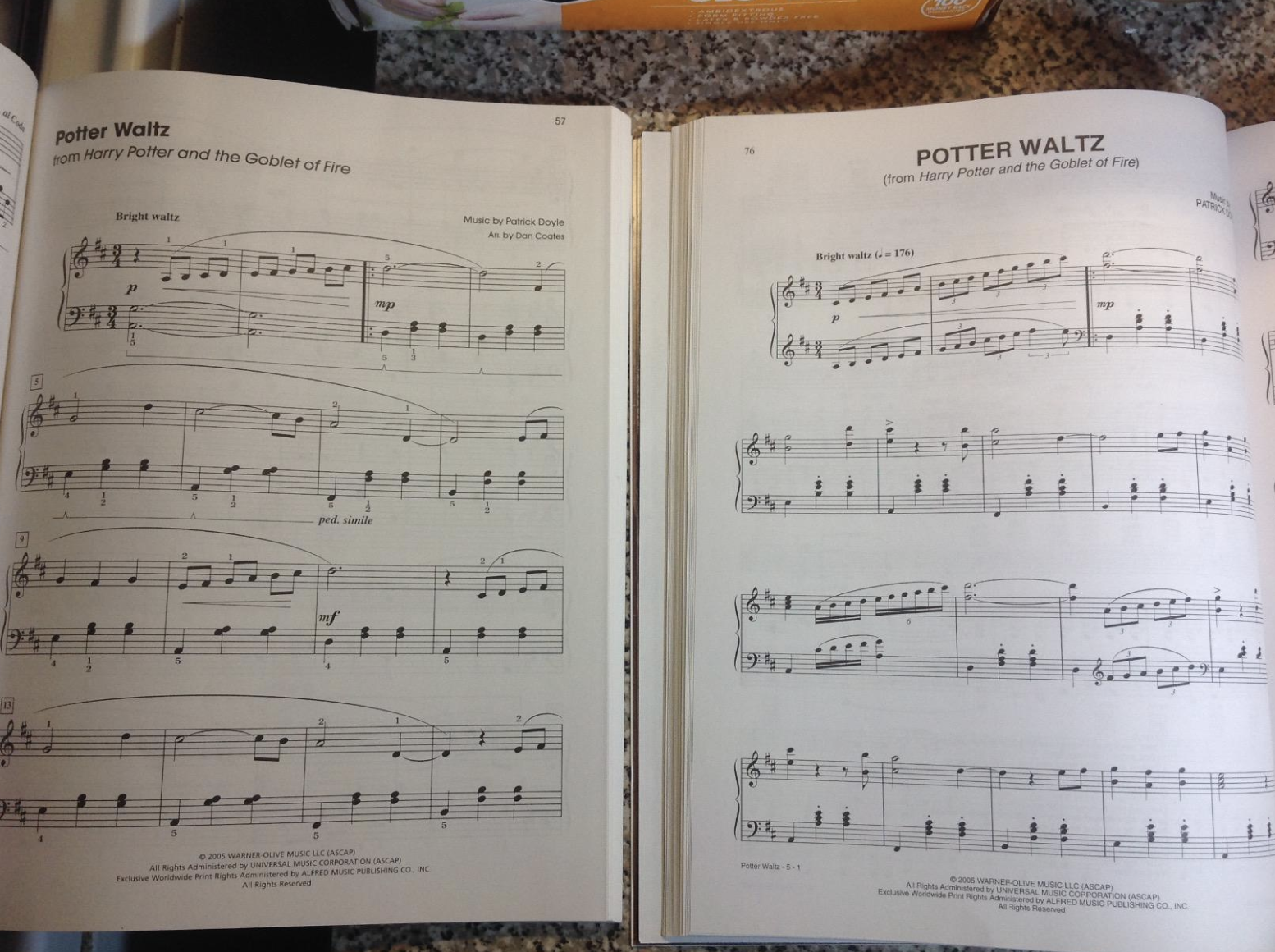 reviewer photo of sheet from music book