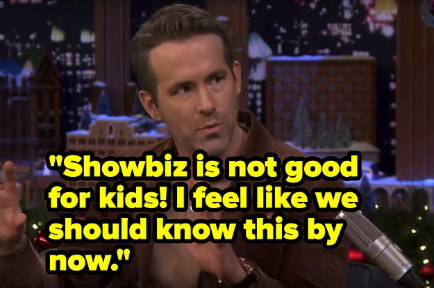 Ryan Reynolds Doesn't Want His Daughter To Be A Child Actor And His Reasons Are Legit